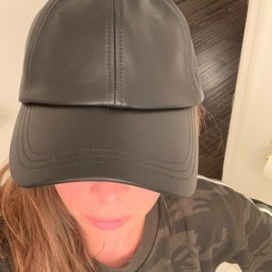 Hat attack 100% leather baseball hat